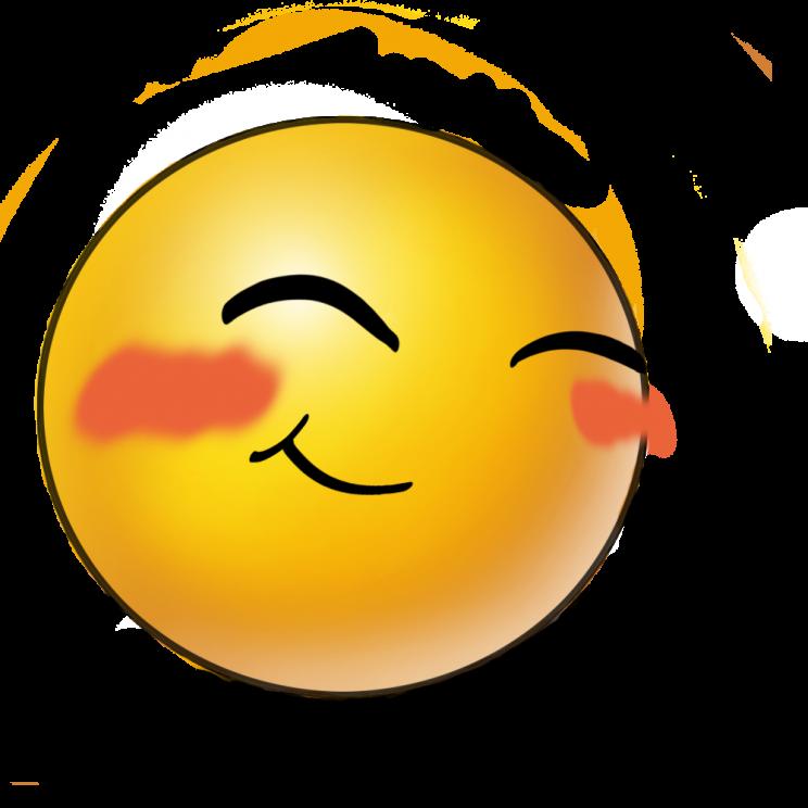 Blozende smiley