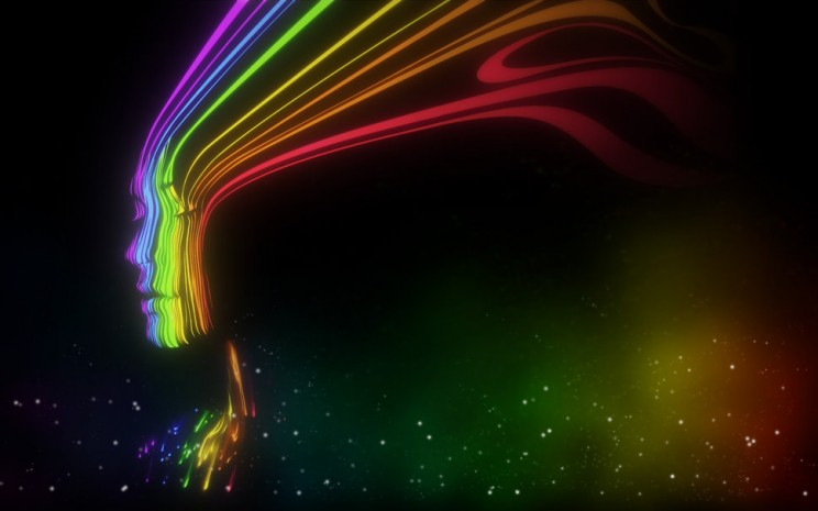 Regenboog gezicht